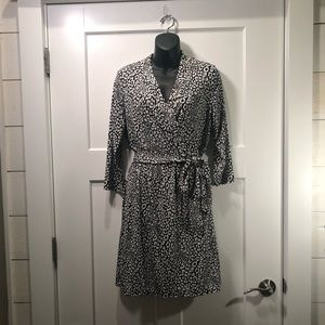 Liz Claiborne Snow Leopard Faux Wrap Dress